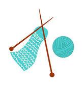 Knitting wool — Stock Vector