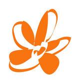 Orange flower closeup — Stock Vector