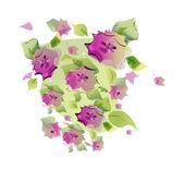 Purple flowers — Stock Vector