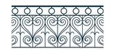 Black railing — Stock Vector