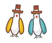 Funny penguins — Vetorial Stock