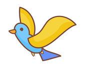 Forest bird — Stock Vector