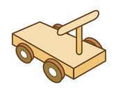 Wooden toys — Stock Vector