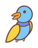 Colored bird — Stock Vector