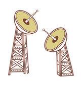 Antenas parabólicas — Vetorial Stock