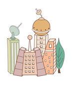 Renkli binalar — Stok Vektör