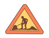 Sign road works — Stock Vector