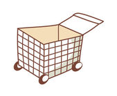 Shopping trolleys — Stockvector