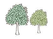 Green trees — Vettoriale Stock