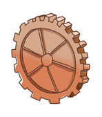Brown gear — Stock Vector