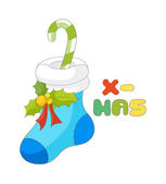 Christmas sock — Stock Vector