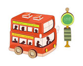 Red tourist bus — Stock Vector