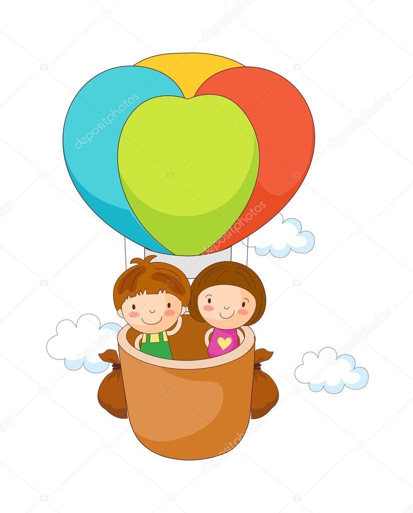 Bambini in mongolfiera  u2014 Vettoriali Stock  u00a9 zzve #13459530 -> Lampadari Bambini Mongolfiera
