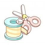 Scissors and ribbon — Stock Vector #13460548