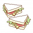 Sandwich — Stock Vector