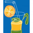 Orange juice - Stock Vector