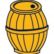 Royalty-Free Stock Vector Image: Wooden barrel