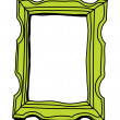 Green picture frame — Stock Vector