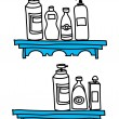 Lotion set — Stock Vector