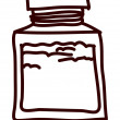 Bottle of medicine - Stock Vector