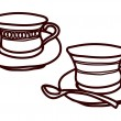 Stock Vector: Cups