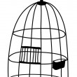 Birdcage — Vector de stock #13462064