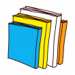 Textbooks — Stock Vector