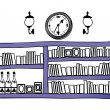 Bookshelf - Stock Vector