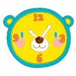 Stock Vector: Yellow clock