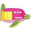 Vector airplane — Stock Vector