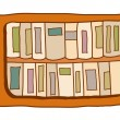 Bookshelf Vector Illustration — Stock Vector
