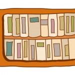 Bookshelf Vector Illustration — Stock Vector