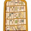 Bookshelf Vector Illustration - Stock Vector