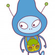 Alien Vector Illustration - Stock Vector