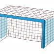 Soccer goal Vector Illustration — Stock Vector #13462995