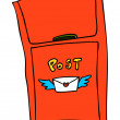 Vector de stock : Mail Box Vector Illustration