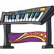 Synthesizer Vector Illustration — Stock Vector