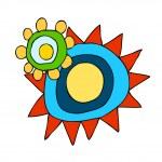 Sun Vector Illustration — Stock Vector #13463234