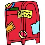 Postbox Vector Illustration — Stock Vector