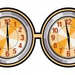 Stock Vector: Clock Vector Illustration