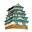 Himeji Castle Vector Illustration - Stock Vector