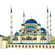 Blue mosque istambul Vector Illustration - Stock Vector