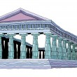 Stock Vector: Parthenon Vector Illustration