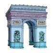 Arc de Triomphe Vector Illustration — Stock Vector #13463401