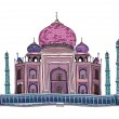 Taj Mahal Vector Illustration - Stock Vector