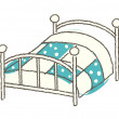 Vector bed - Stock Vector