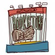 Vector Bookstore — Stock Vector