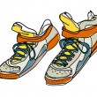 Vector sneakers. - Stock Vector
