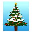 Christmas tree. — Stock Vector