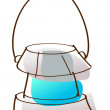 Stock Vector: Cartoon kerosene lantern.